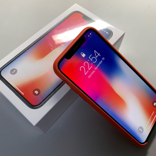 アイフォーン(iPhone)のiPhone X 256GB Black 米国版 A1865 純正ケース付き (スマートフォン本体)
