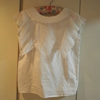 スリーフォータイム(ThreeFourTime)の白レースブラウス(シャツ/ブラウス(半袖/袖なし))