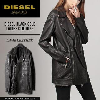 ディーゼル(DIESEL)のdiesel black gold レザージャケット コート(ライダースジャケット)