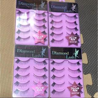 ダイヤモンドビューティー(Diamond Beauty)の新品 ダイヤモンドラッシュ フレンチeye 4箱セット(つけまつげ)