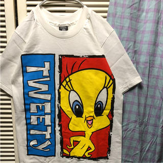パナマボーイ(PANAMA BOY)のUSED 古着 メンズS USA製 vintage【トゥイーティー】Tシャツ(Tシャツ(半袖/袖なし))