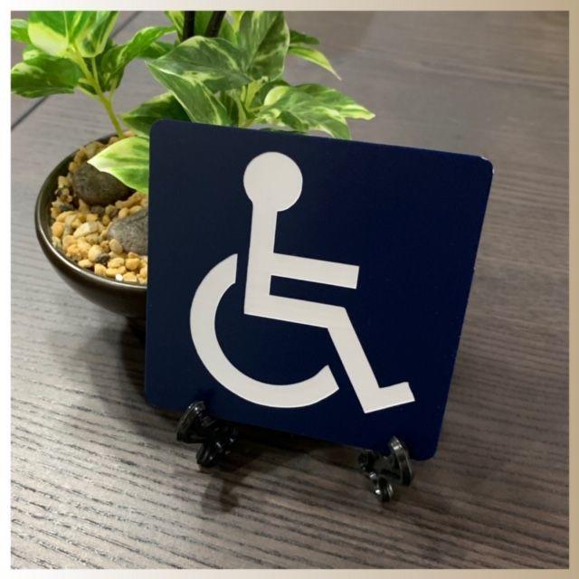 【アクリル二層板】身障者マーク ハンドメイドの文具/ステーショナリー(しおり/ステッカー)の商品写真