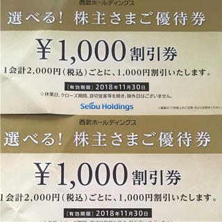 セイブヒャッカテン(西武百貨店)の西武ホールディングス 株主優待(その他)