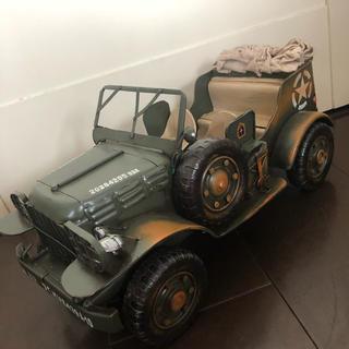 ジープ(Jeep)の【新品】大人の ブリキのおもちゃ❤️米軍仕様ジープ★自動車(置物)