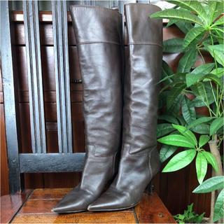 ジュゼッペザノッティ(GIUZEPPE ZANOTTI)のジュゼッペザノッティ ブーツ ダークブラウン レザー 22cm 189612(ブーツ)