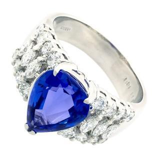 指輪 タンザナイト ブルーゾイサイト ダイヤ プラチナ 130117(リング(指輪))