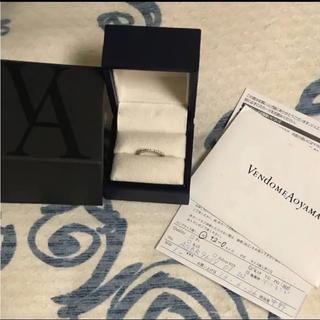 ヴァンドームアオヤマ(Vendome Aoyama)のヴァンドーム青山 k18ハーフエタニティリング ピンキーリング(リング(指輪))