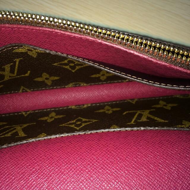 sports shoes 03f4d b5731 ルイ・ヴィトン長財布 レディース財布 フック モノグラム 茶色/ピンク