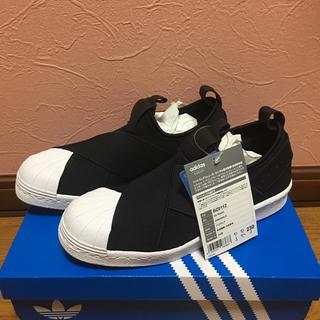 アディダス(adidas)のadidas アディダス スリッポン 23センチ ブラック 新品(スリッポン/モカシン)
