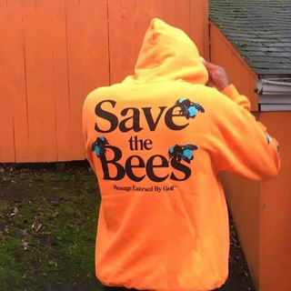 golfwang  save the bees hoodie orange M(パーカー)