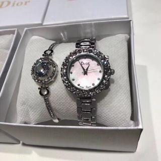 ディオール(Dior)のDIOR ディオール  腕時計 バングル アクセサリーセット シルバー(腕時計)