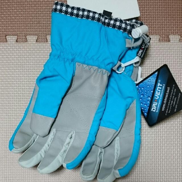 新品☆ スキーグローブ スノボ 手袋 スナッピー ジュニアL 女児 キッズ 青 スポーツ/アウトドアのスノーボード(ウエア/装備)の商品写真