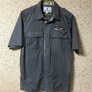 ナイトレイド(nitraid)のNITRAID リアルストーン柄 ワークシャツ [GRAY/L](シャツ)