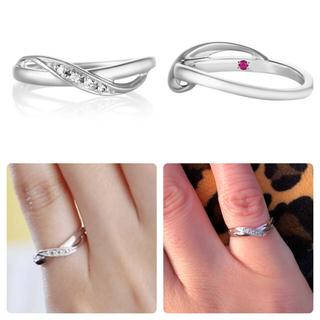 ヨンドシー(4℃)のK18ホワイトゴールド ピンキーリング(リング(指輪))