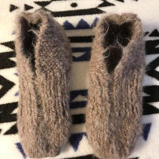 手編みフットカバー(レッグウェア)