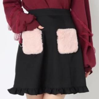 アンクルージュ(Ank Rouge)のアンクルージュ もこもこポケット裾フリルスカート 即完売品 新品タグ付 超激安!(ミニスカート)