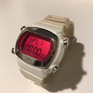 アディダス(adidas)のアディダス adidas 腕時計 デジタル ピンク 白 ホワイト(腕時計(デジタル))