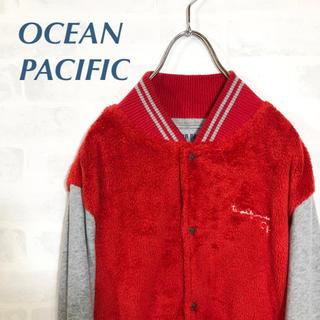 オーシャンパシフィック(OCEAN PACIFIC)のオーシャンパシフィック  異素材  ジャンパー ブルゾン スウェット(ブルゾン)