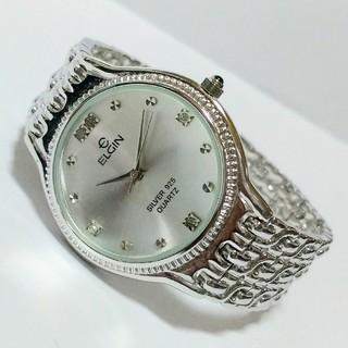 エルジン(ELGIN)のELGIN クォーツ腕時計 シルバー925+ダイヤ FK-1055E(腕時計(アナログ))