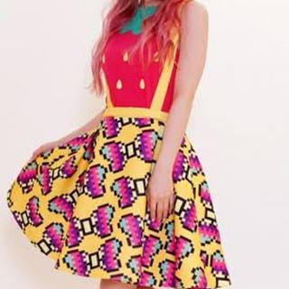 galaxxxy リボンBigスカート