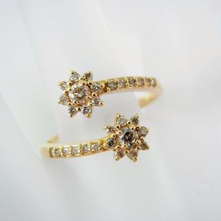 K18 ダイヤモンド リング 15号 [f311-1] (リング(指輪))