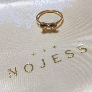 ノジェス(NOJESS)のノジェス リボンピンキーリング 3号 NOJESS agete アガット(リング(指輪))