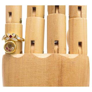 ダイヤモンド & ルビー 指輪 リング 6号 k18 ゴールド(リング(指輪))