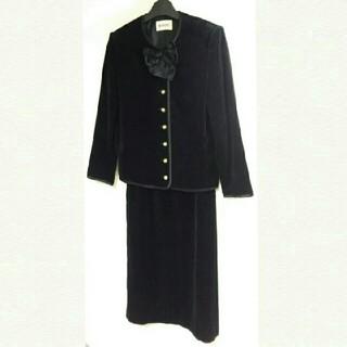 インゲボルグ(INGEBORG)のINGEBORG 黒リボンスーツ 上下セット 13号(スーツ)