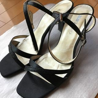 セラビ(C'EST LA VIE)のC'EST LA VIE [セラビ]黒靴 フォーマルサンダル パーティーサンダル(サンダル)