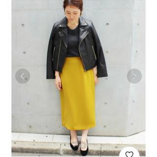 イエナ(IENA)のIENA ダブルフェイスサテンカラースカート 38(ひざ丈スカート)