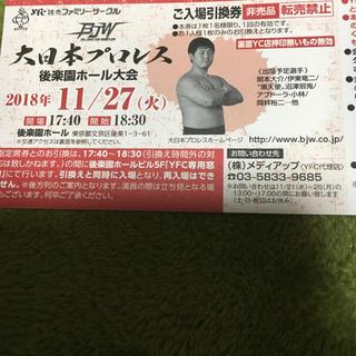 11.27 大日本プロレス 後楽園チケット引き換え券(格闘技/プロレス)