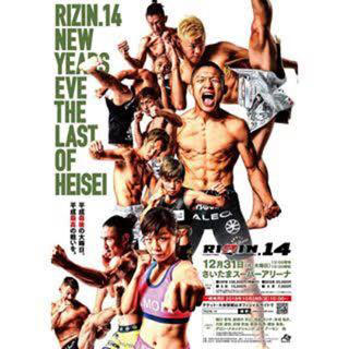 rizin14 チケット s席  1枚(格闘技/プロレス)