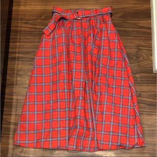 シマムラ(しまむら)のしまむら 新品 チェックロングスカート L (ロングスカート)