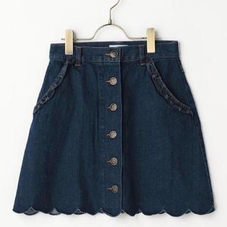 リズリサ(LIZ LISA)のリズリサ スカラップデニムスカート(ミニスカート)