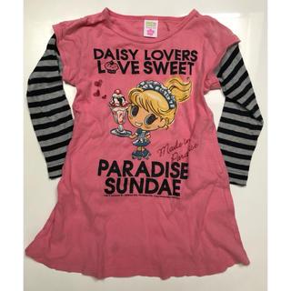 ディジーラバーズ(DAISY LOVERS)のdaisy lovers 重ね着風チュニック 110㎝ Sサイズ(Tシャツ/カットソー)