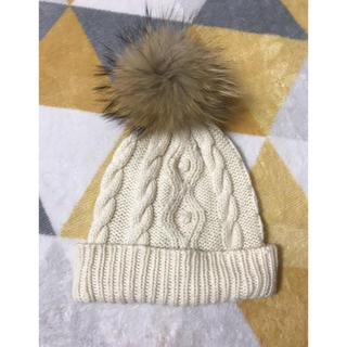 アルバローザ(ALBA ROSA)のアルバローザ ファー付きニット帽(ニット帽/ビーニー)