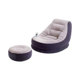 エアーソファ シングルソファ 収納 オシャレ デザイン オットマン 座椅子(一人掛けソファ)