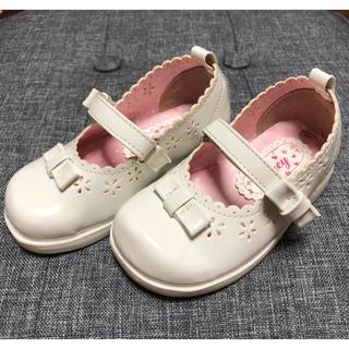 9e17cfa056916 マザウェイズ(motherways)の女の子 フォーマルシューズ 14㎝ ベビー 子供靴 白 ホワイト (