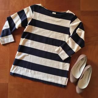 ヤエカ(YAECA)のYAECA バスクシャツ 太ボーダーカットソー(カットソー(長袖/七分))