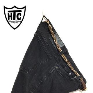 ハリウッドトレーディングカンパニー(HTC)の【即決】国内正規品 HTC EU ユーロ スパイクスタッズ 捻れ レザーベルト(ベルト)