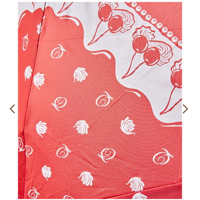 Q-pot.(キューポット)のチェリーホイップ 折りたたみ傘【晴雨兼用】Q-pot qpot  レディースのファッション小物(傘)の商品写真