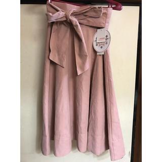 シマムラ(しまむら)の連休価格! ウエストリボン フレアスカート Light label 新品(ロングスカート)