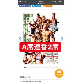 RIZIN チケット ペア(格闘技/プロレス)