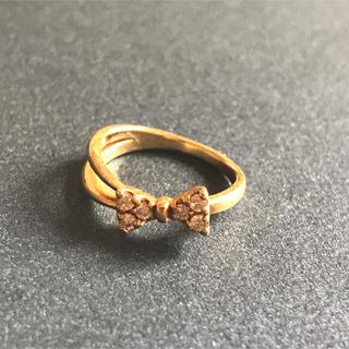 ポンテヴェキオ(PonteVecchio)のPonte Vecchio ポンテヴェキオ ピンキーリング リボン ダイヤモンド(リング(指輪))