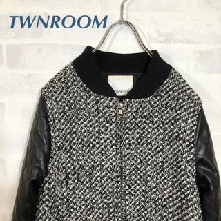 ツインルーム(TWNROOM)のツインルーム  ツイード ブルゾン  コート ジャケット(ブルゾン)