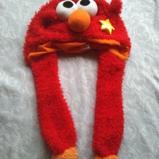 セサミストリート(SESAME STREET)のセサミストリート エルモ 帽子 もこもこ ふわふわ 赤 ユニバ USJ(キャラクターグッズ)