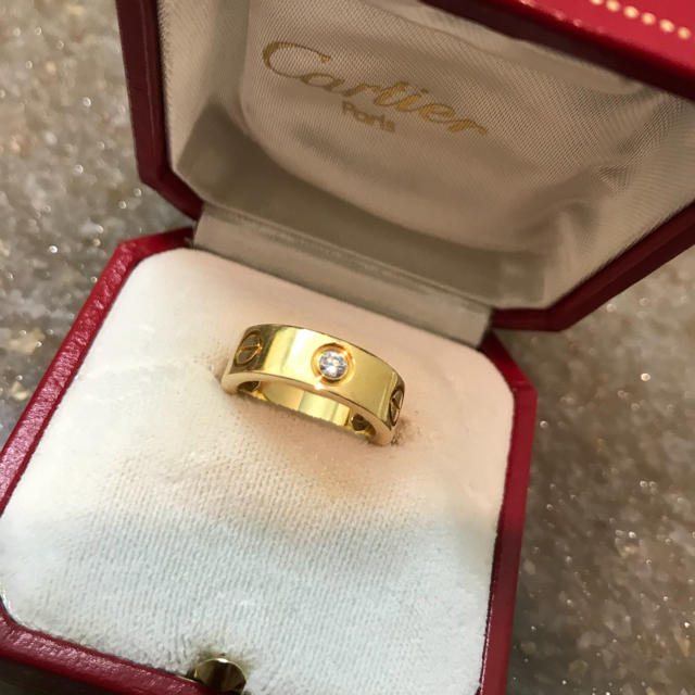 Cartier(カルティエ)のSALE‼︎ 正規 カルティエ ラブリング  ハーフダイヤ 46 k18YG レディースのアクセサリー(リング(指輪))の商品写真