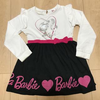 バービー(Barbie)のbarbie☆ 切り替えワンピース  サイズ110(ワンピース)