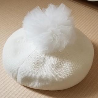コムサイズム(COMME CA ISM)のコムサ⭐ぼんてん付ベレー帽新品同様46センチ(ハンチング/ベレー帽)