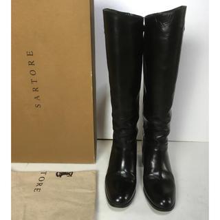 サルトル(SARTORE)の36  SARTORE サルトル ロングブーツ 黒(ブーツ)